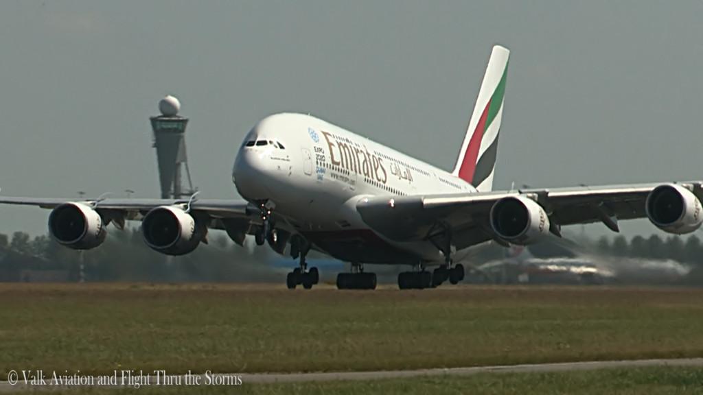 China Southern and Emirates A380 @ RW36L.Still009