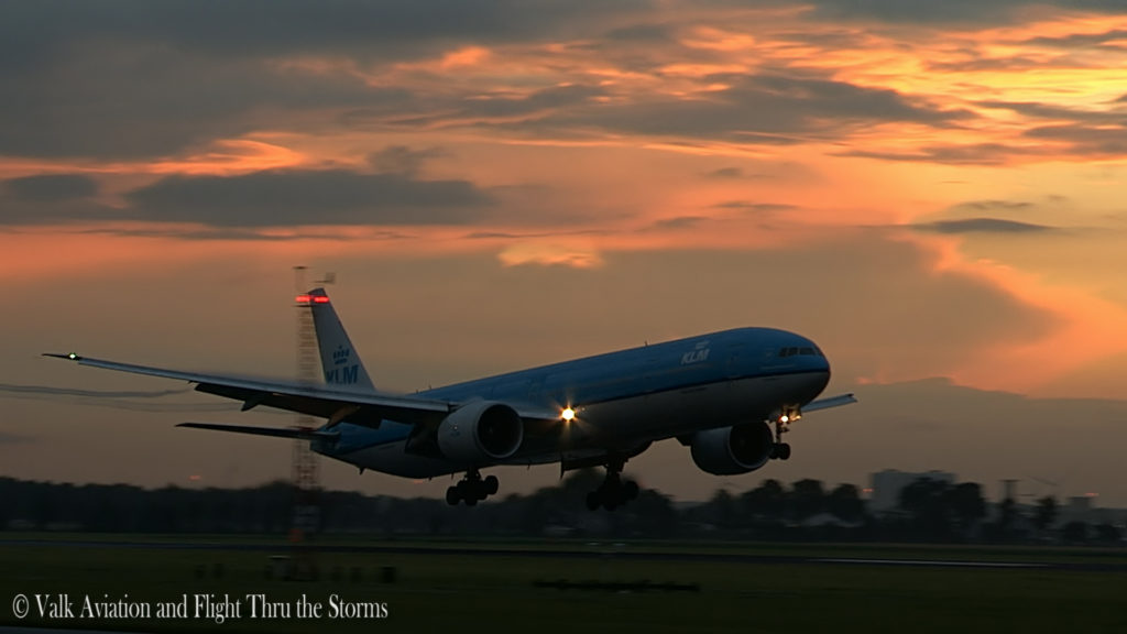 Last Flight of Cpt Wil Janssen @ KLM B777.Still023